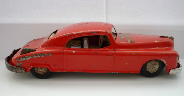 Arnold Candidat Tinplate Fire Chief's Car - red