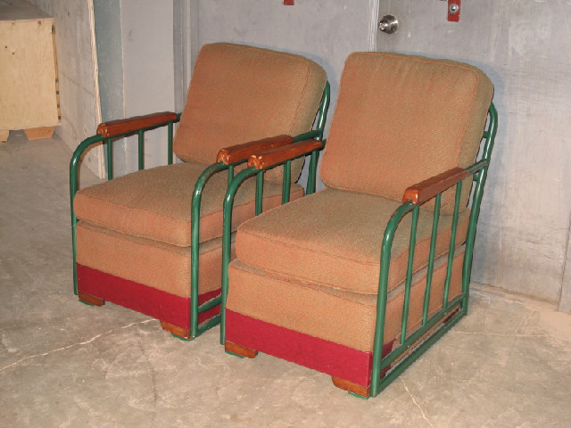 Pair Industrial Club Chairs