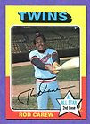 1975 Topps Rod Carew Baseball Card