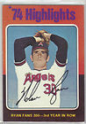 1975 Topps Nolan Ryan Baseball Card