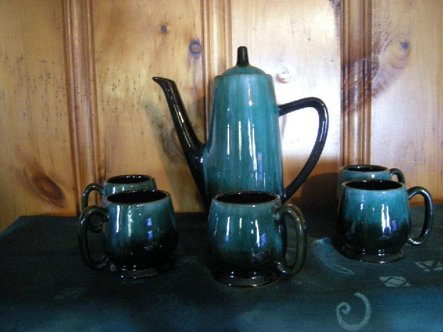 Blue Mountain Pottery Coffee Set , mint cond.