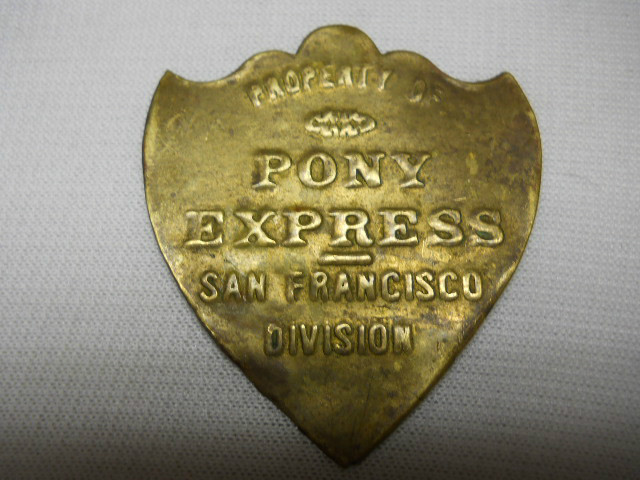 The Pony Express Brass Badge San Francisco Division