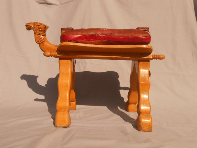 Authentic Camel Saddle/Footstool