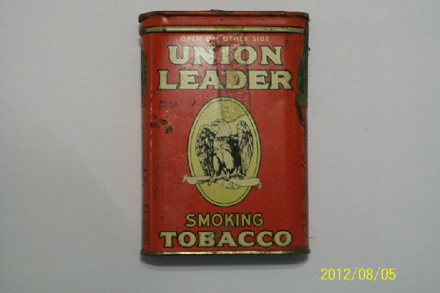 Union Leader Pocket Tobacco Tin