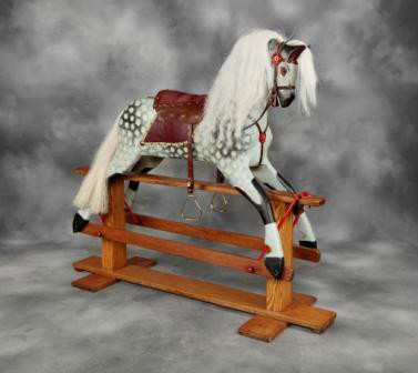 Vintage wooden Collinson Rockng Horse By Collinsons of Liverpool
