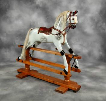 BEAUTIFUL ANTIQUE F H AYRES ROCKING HORSE
