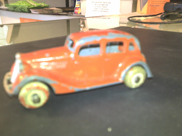 PRE WAR TOOTSIE TOY ORANGE SEDAN