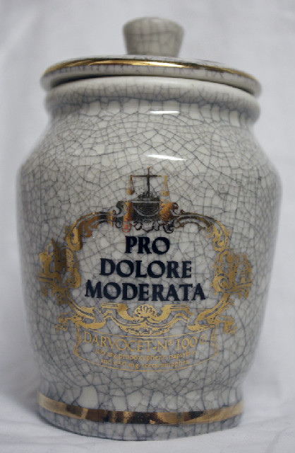 Limited Edition Eli Lilly Apothecary Jar Pro Dolore Moderata