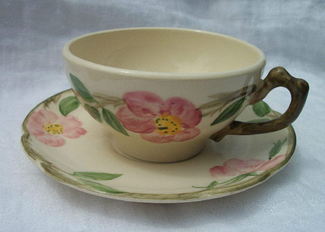 Franciscan Desert Rose Cup & Saucer-Excellent Condition!