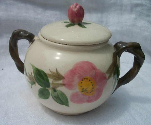 Franciscan Desert Rose Sugar Bowl with Cover