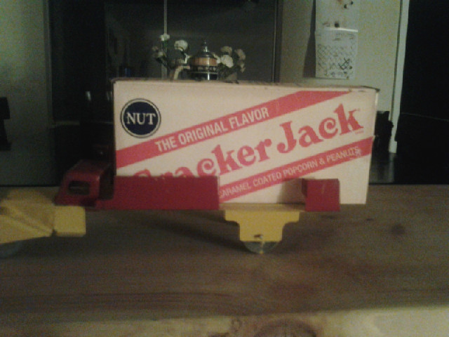 1930's cracker jack delivery truck