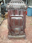 charter oak #16 cast iron enamal wood stove