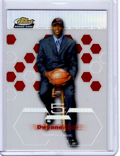 2002/2003 topps finest dwyane wade #182 rc miami heat