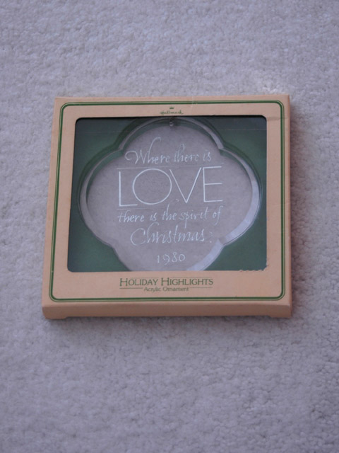 Where there is love... Hallmark Ornament