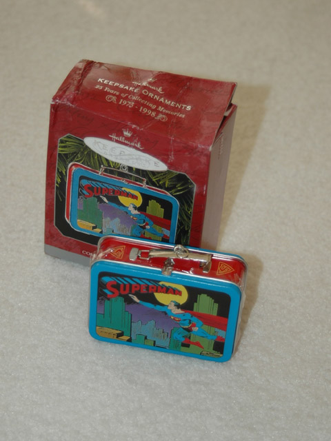 1998 Superman Tin lunch box Hallmark Ornament