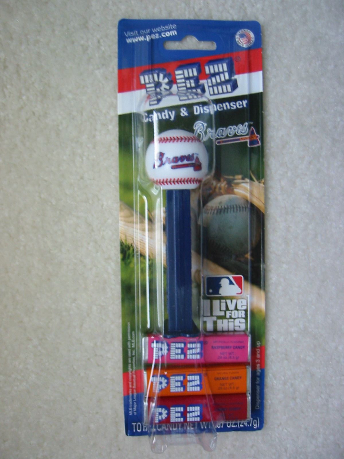 Pez Baseball - Atlanta Braves