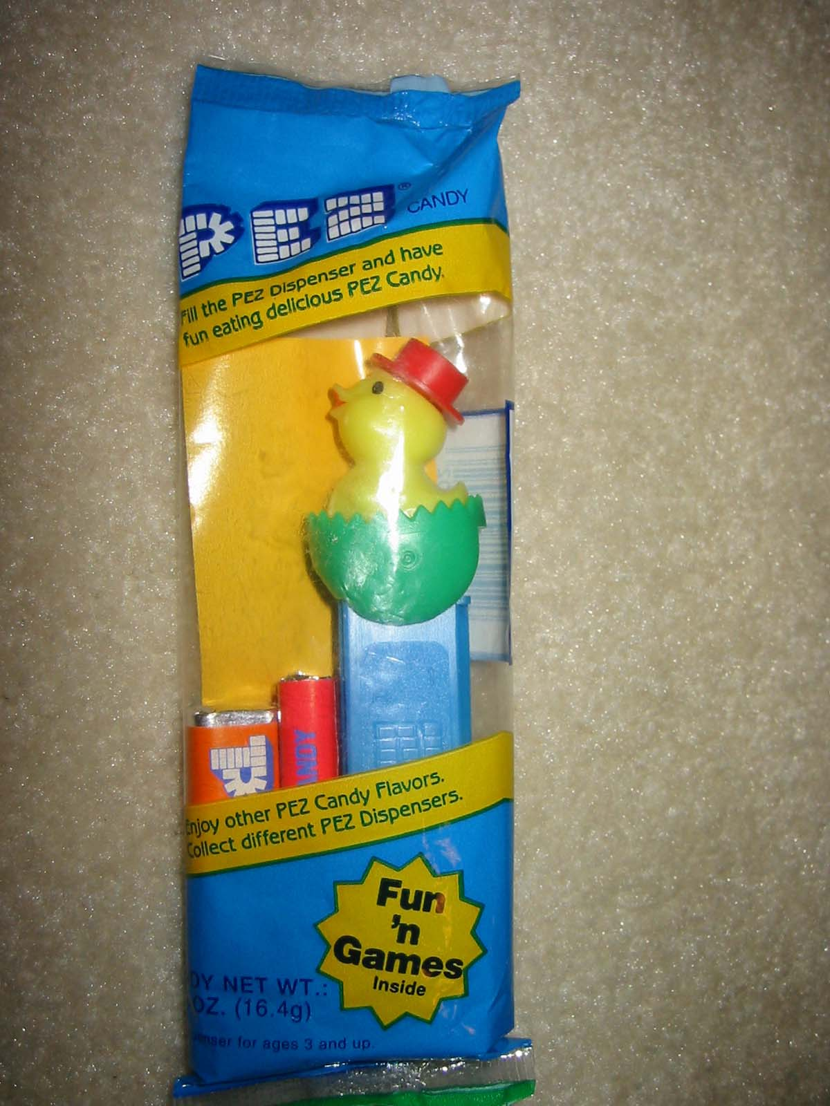 Easter Chick'n'Egg Pez Second Version Green (MIP)