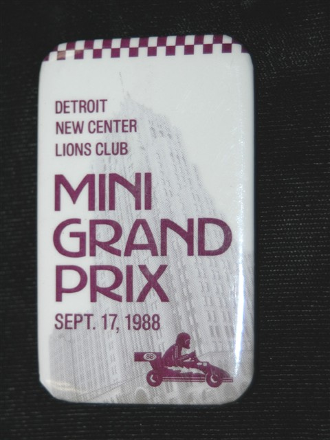 Pinback Button -- 1988 Detroit Lions Club Mini Grand Prix