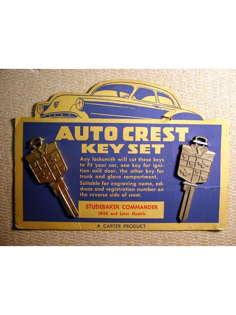 Studebaker Crest Key Blank Set 1946 and Later (MOC)