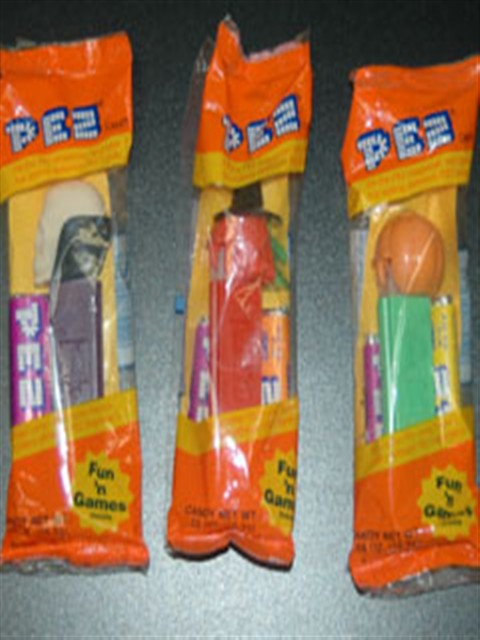Pez Dispensers with Feet