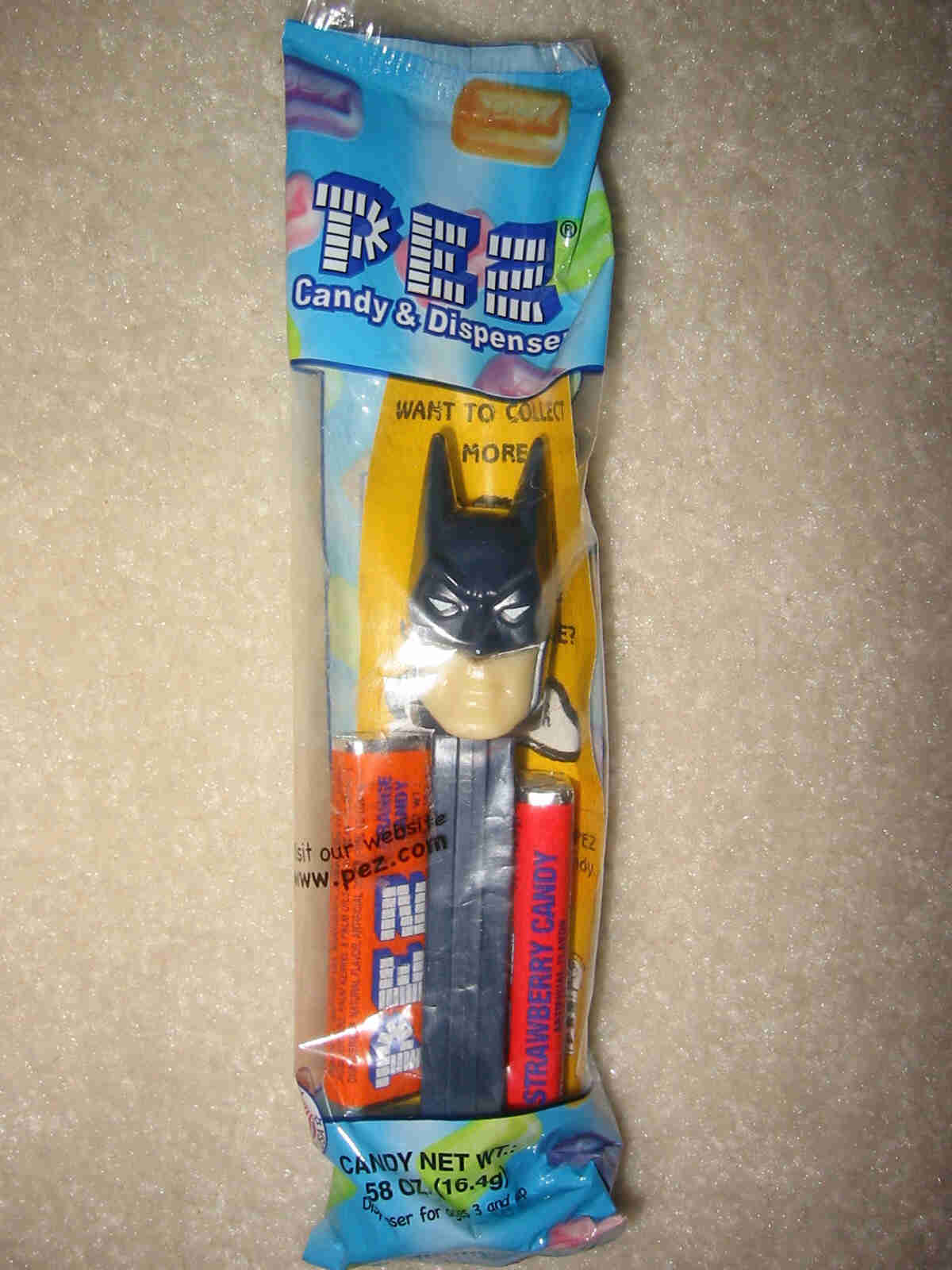 Batman (Dark Prince) Pez - Ivory Colored Face (MIB)
