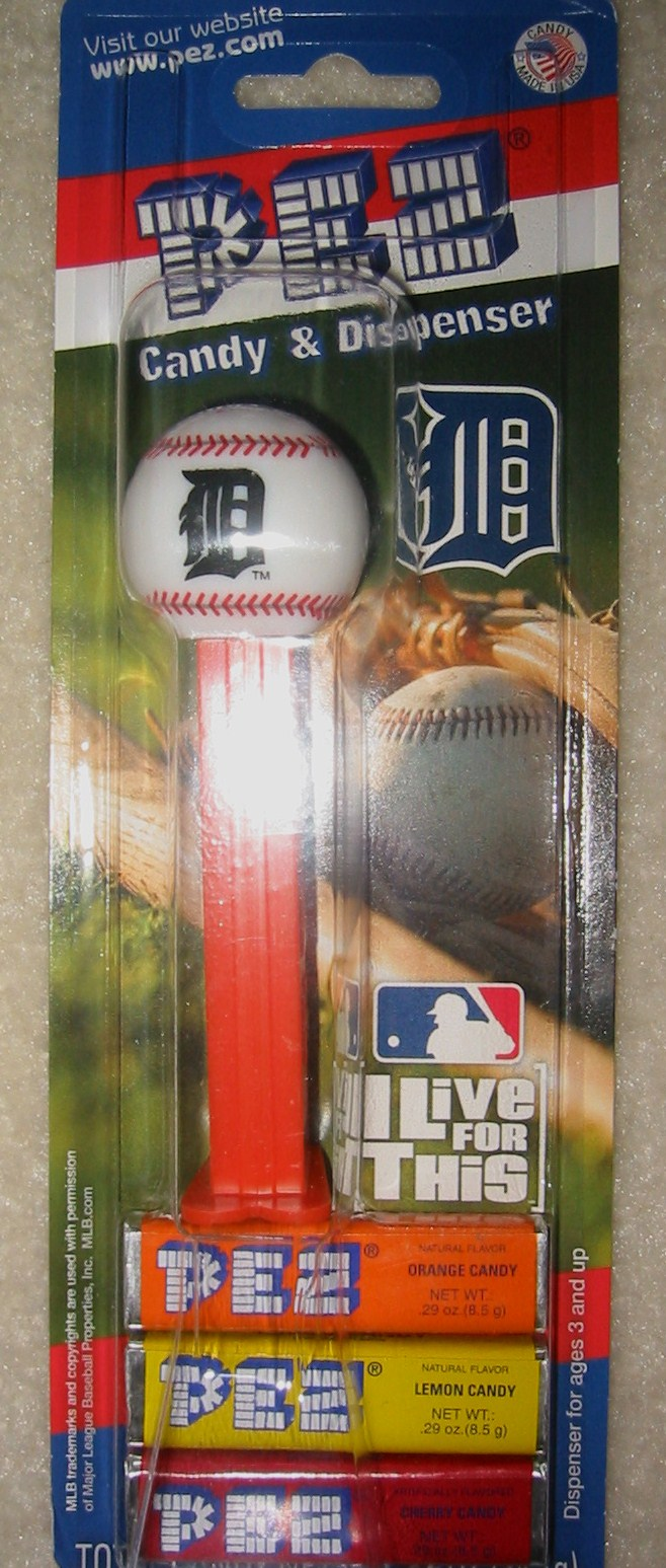 Pez Baseball - Detroit Tigers
