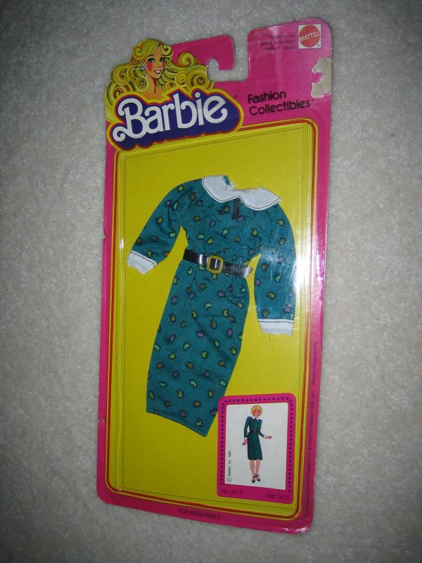 Barbie Doll Teal Print Dress