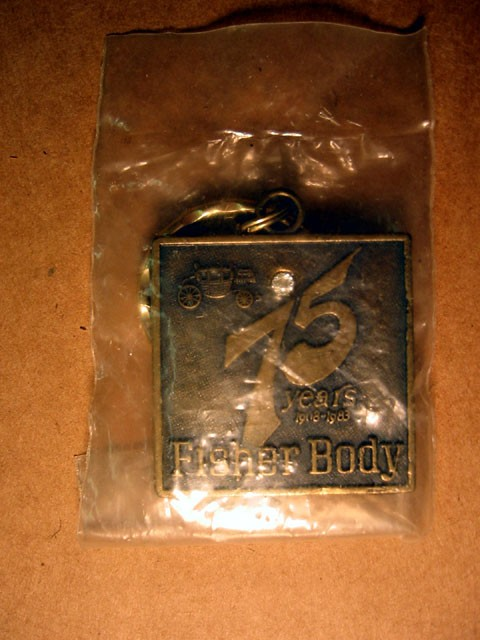 Key Chain -- 75th Anniversary Fisher Body