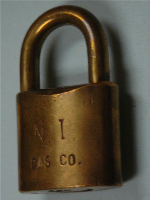 N. I. Gas Co. Logo Padlock