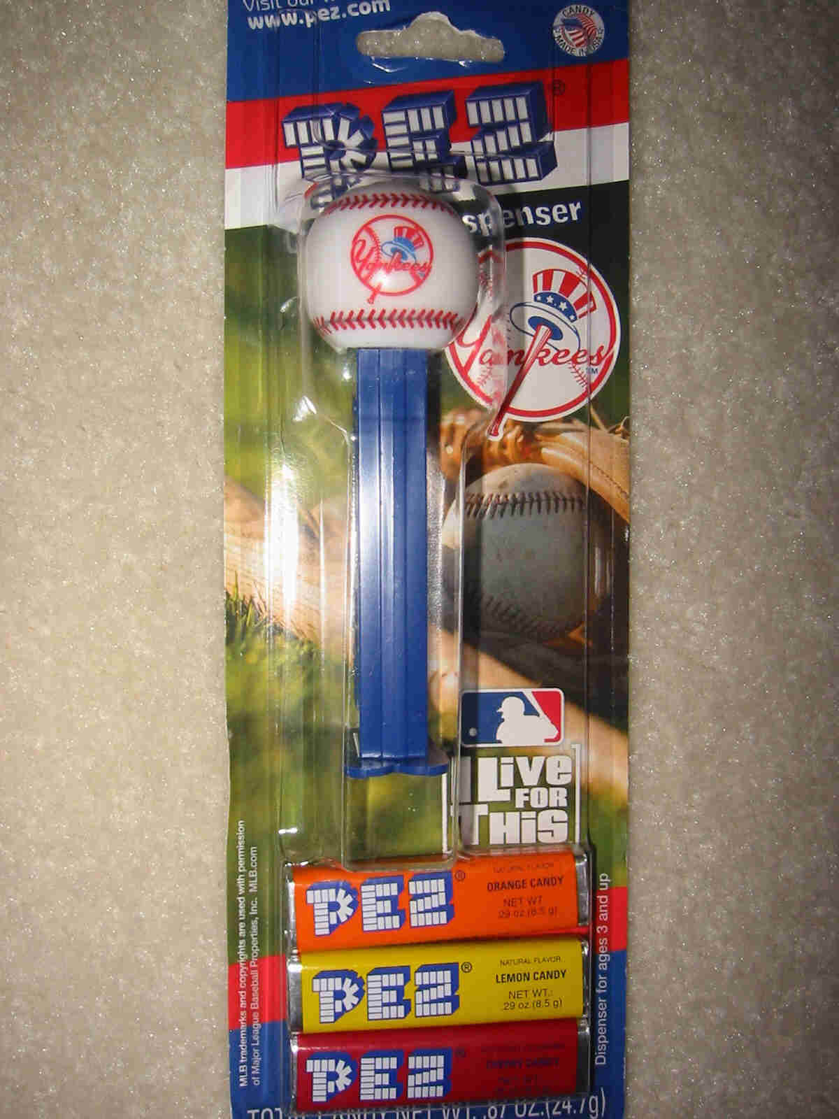 Pez Baseball - New York Yankees (MOC)