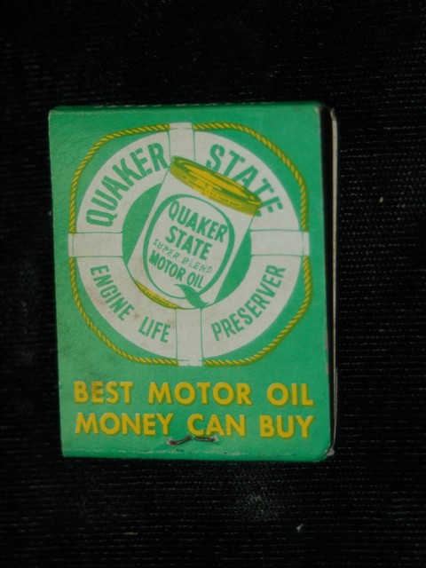 Match Book -- Quaker Motor Oil