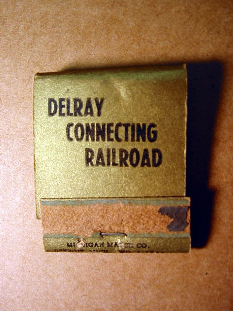 Match Book -- Delray Connecting Railroad