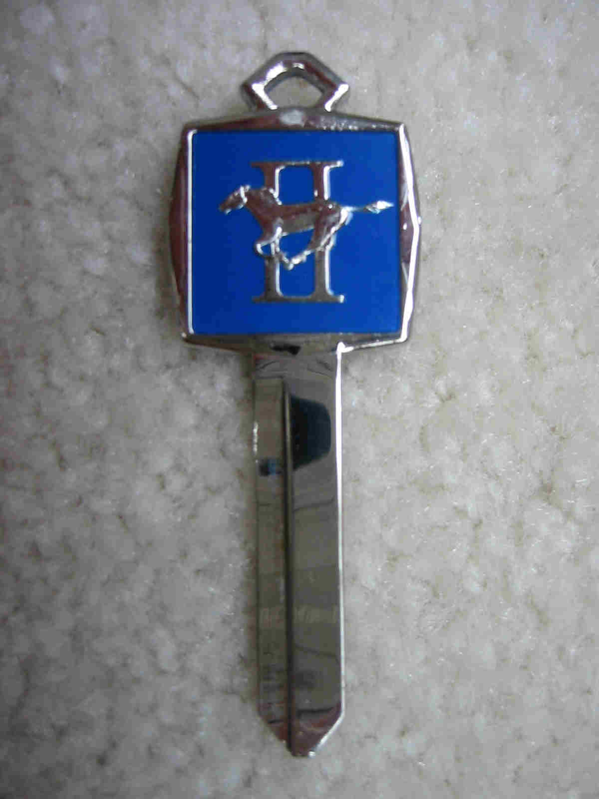 Ford Mustang Crest Key Blank - 1965 and Up