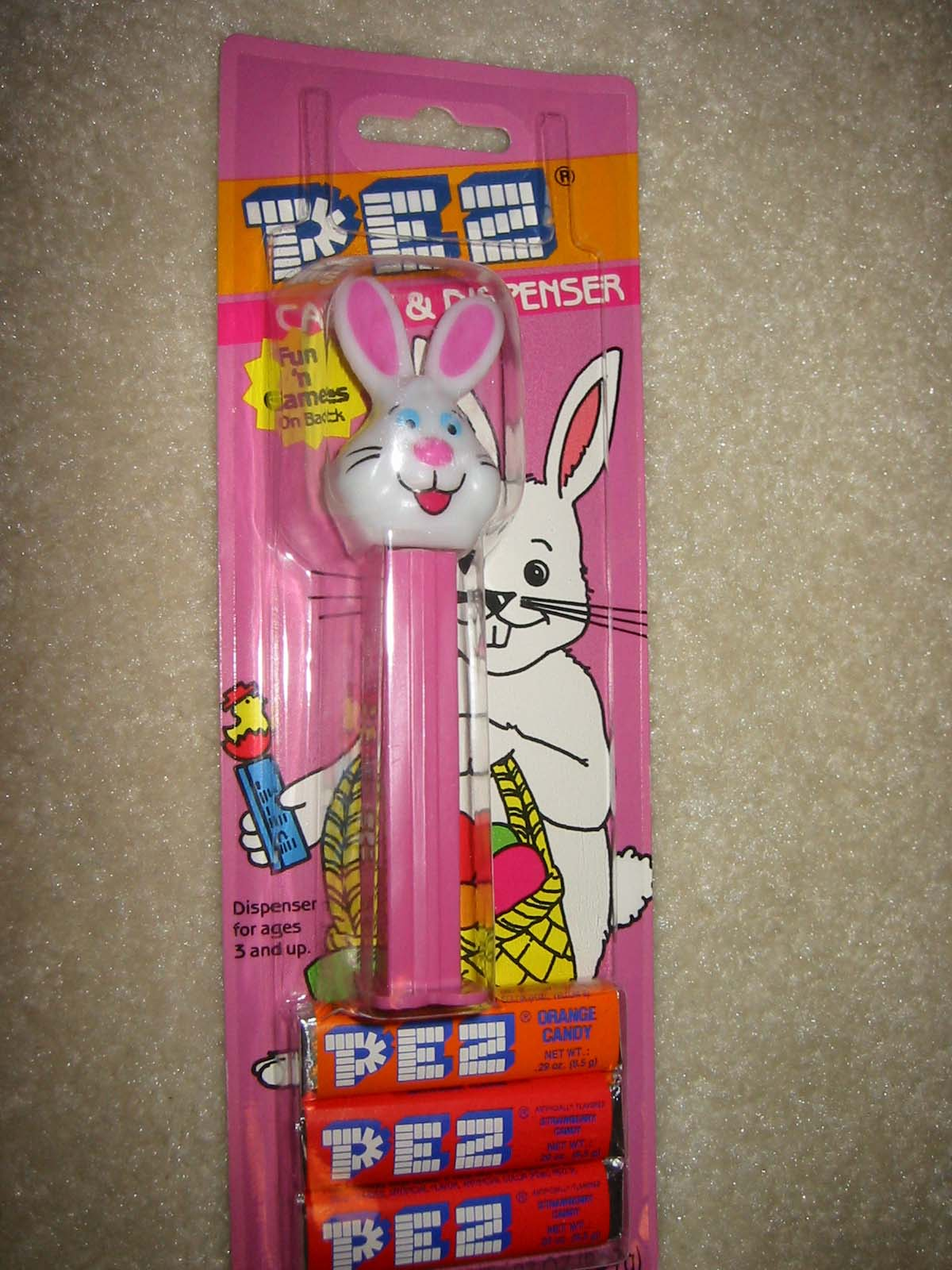 Easter Rabbit Pez - Current Long Ear/Old Style Card