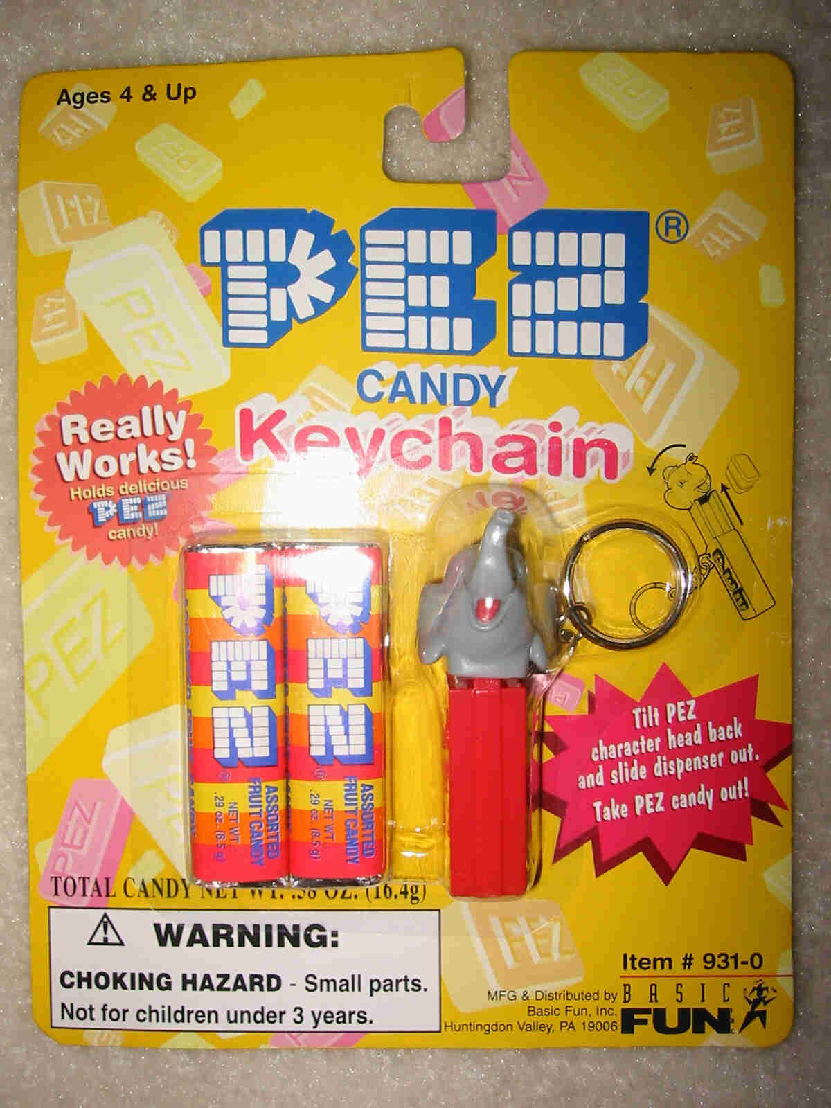 Pez Key Chain - Circus Elephant