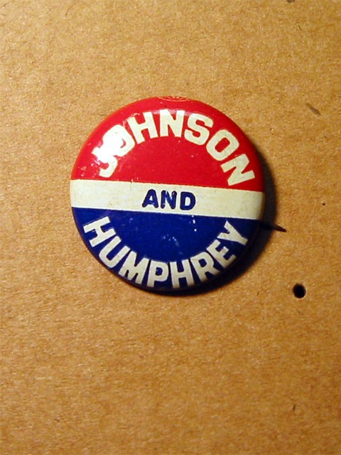Political Button -- Johnson and Humphrey