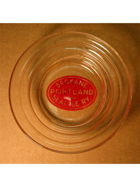 RR ashtray -- Spokane Portland Seattle R.Y.