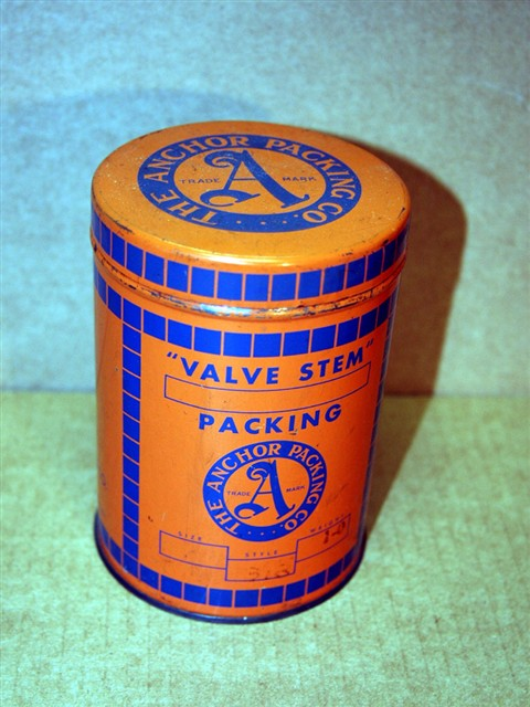 Anchor Packing Co. Valve Stem Grease Tin