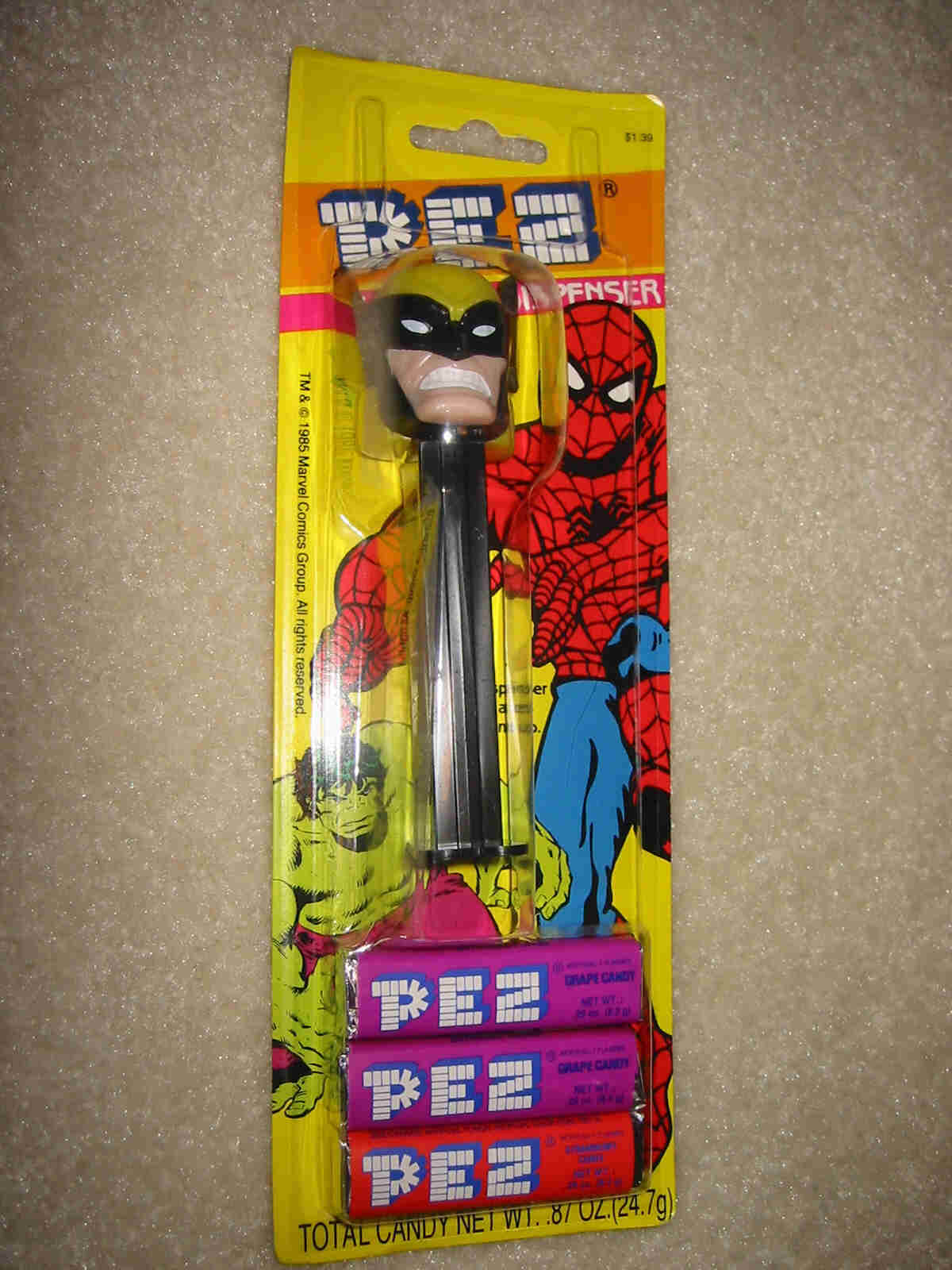 Wolverine Pez - Old Card