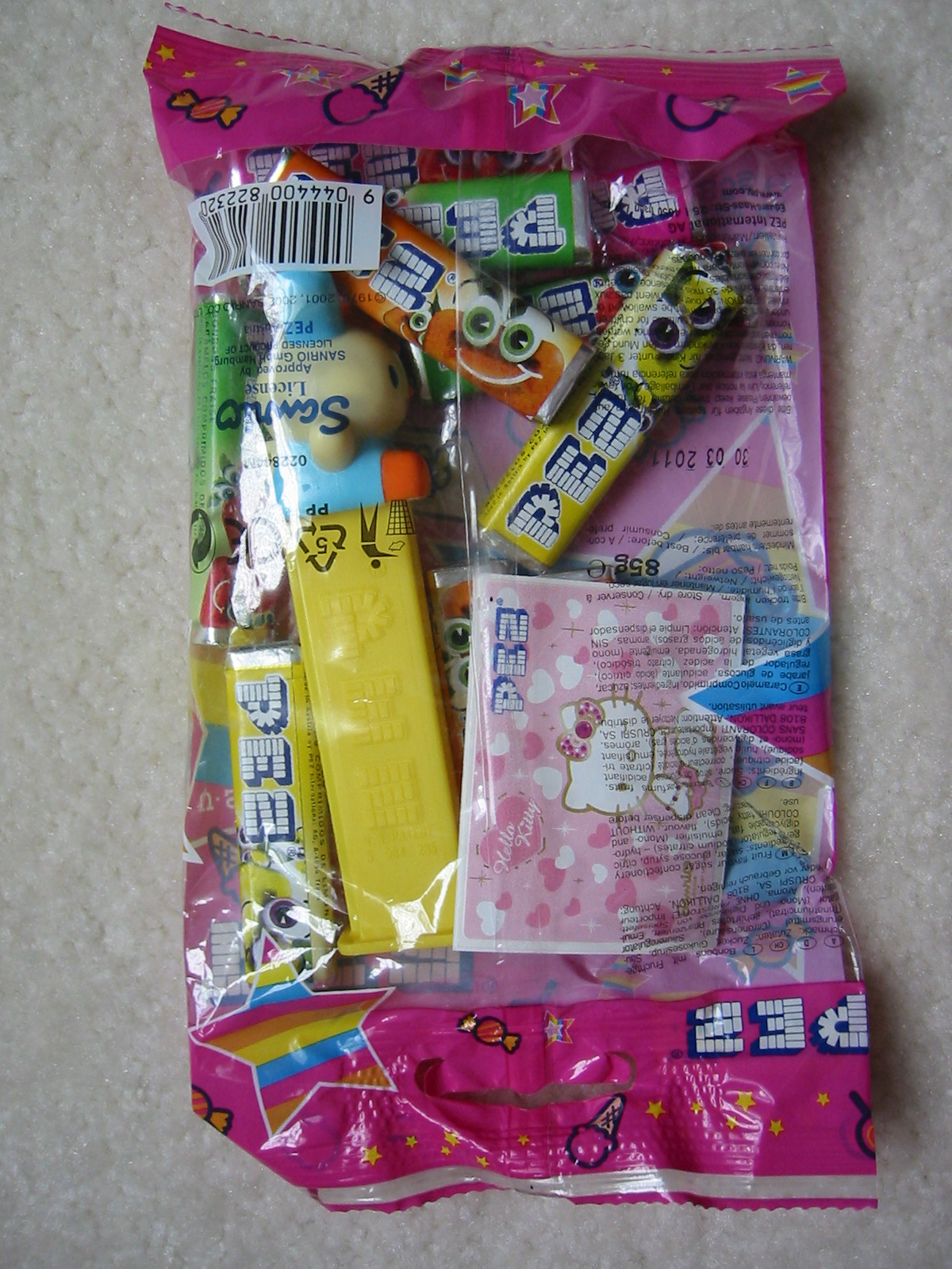 Hello Kitty Pez - Yellow Bunny, Euro Bag