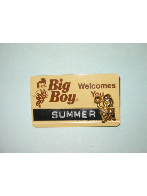 Big Boy Employee Badge with Pin