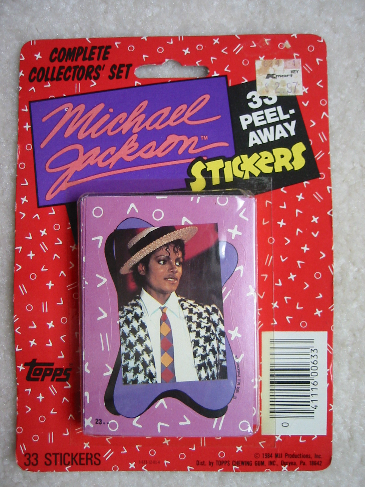 Michael Jackson Collector Sticker Set (1984)